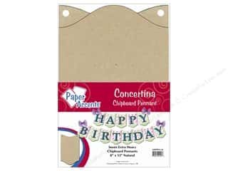 Paper Accents Chipboard Pennants 8 x 12 in. Concertina 7 pc. Kraft
