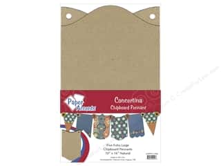Etching Products $5 - $10: Paper Accents Chipboard Pennants 10 x16 in. Concertina 5 pc. Kraft