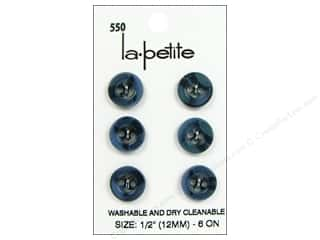 LaPetite 4 Hole Buttons 1/2 in. Blue #550 6pc.