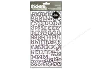 clearance American Crafts Thickers Stickers: Thickers Alphabet Stickers Sunrise Duotone Glitter Silver