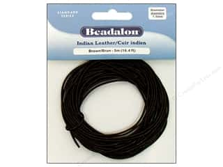Beadalon Indian Leather 1.5mm Brown 5m