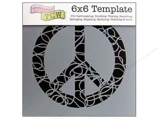 Sponges $4 - $6: The Crafter's Workshop Template 6 x 6 in. Festive Peace