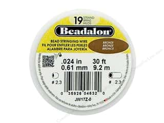 Beadalon Bead Wire 19 Strand .024&quot; Bronze 30&#39;