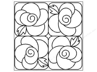 Quilt Stencil  -border: Quilting Creations Stencil Deco Rose 8""