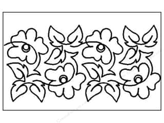 Quilt Stencil  -border: Quilting Creations Stencil Poppy Overall 6 1/2 in.
