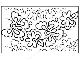 Quilt Stencil  Background: Quilting Creations Stencil Mariposa Overall 5 1/2 in.