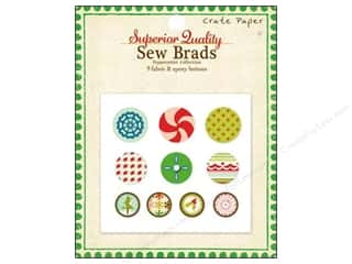 Crate Paper Brads Sew Peppermint