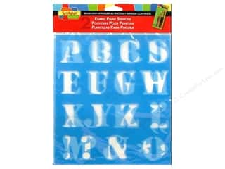 Scribbles: Scribbles Fabric Paint Accessories Stencils Letters 1