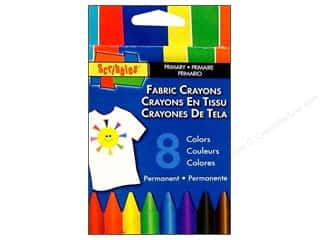 Crayons Sewing & Quilting: Scribbles Fabric Crayons Primary 8pc