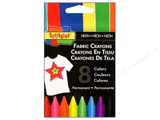 Crayons Sewing & Quilting: Scribbles Fabric Crayons Neon 8pc