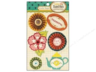 Tea & Coffee Stickers: Crate Paper Stickers Farmhouse Stand Outs