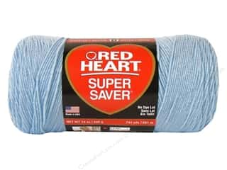Light Worsted yarn: Red Heart Super Saver Jumbo Yarn #381 Light Blue 744 yd.