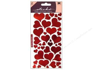 Valentines Day Gifts Stickers: EK Sticko Stickers Foil Heart
