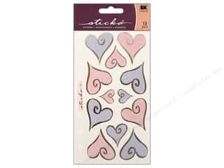 EK Sticko Stickers Vellum Hearts Of Love