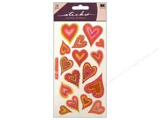 EK Sticko Stickers Vellum Expressive Hearts