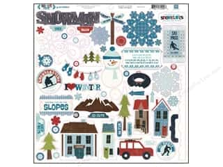 "Winter Wonderland Stickers: Echo Park Sticker 12""x 12"" Winter Park Element (15 sheets)"