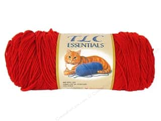 Clearance C&amp;C TLC Essentials Yarn: TLC Essentials Yarn 6oz Cherry Red 312yd