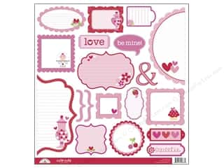 Doodlebug Paper 12x12 Cut Outs Sweet cakes (12 sheets)
