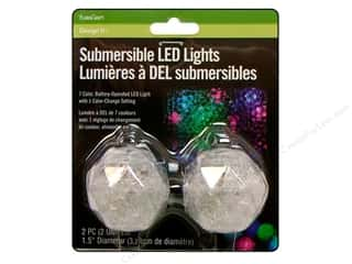 "Floracraft Light Submersible 2"" LED Clear 2pc"