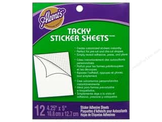 Stock Up Sale Adhesive: Aleene's Dry Adh Tacky Sticker Sheet Micro 12pc