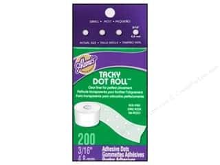 "Stock Up Sale Adhesive: Aleene's Dry Adh Tacky Roll Small Dot 3/16"" 200pc"
