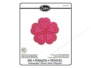Valentine's Day Dies: Sizzix Embosslits Die Flower Old Country Bloom by Scrappy Cat