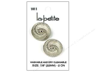 LaPetite Buttons: LaPetite Shank Buttons 7/8 in. Silver #1011 2pc.