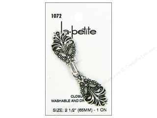 LaPetite Buttons 10 mm: LaPetite Closure 2 1/2 in. Antique Silver #1072 1pc.
