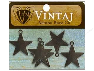Vintaj Blanks Tiny Arts Star Nat Brass 5pc