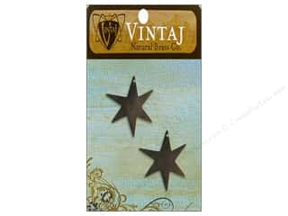 Vintaj Blanks North Star Nat Brass 2pc