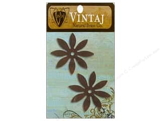 Vintaj Blanks 8 Petal Flower Nat Brass 2pc
