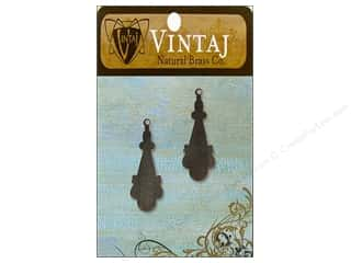 Vintaj Blanks Etruscan Drop Nat Brass 2pc