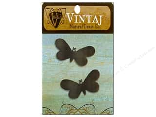 Vintaj Blanks Fairy Buttrfly Nat Brass 2pc