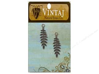 Vintaj Fastenables Delicate Fern Nat Brass 2pc