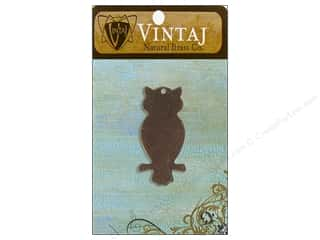 Vintaj Blanks Perched Owl Nat Brass