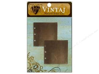 Vintaj Blanks Journal Page Nat Brass 2pc