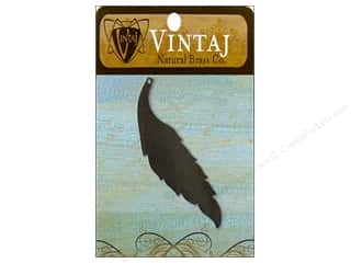 Vintaj Blanks Slender Leaf Nat Brass