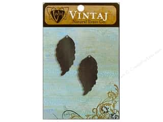 Vintaj Blanks Ambrosial Leaf Nat Brass 2pc