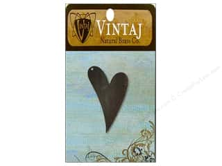 Vintaj Blanks Artisan Heart Nat Brass