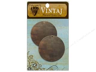 Vintaj Blanks Circle Nat Brass 2pc