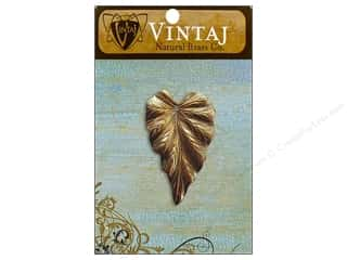 Charms Vintaj: Vintaj Charm Woodland Leaf Natural Brass
