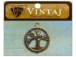Charms and Pendants Vintaj Charm: Vintaj Charm Tree of Life Natural Brass