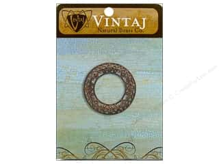 Vintaj Charm Scrolled Filigree Ring Natural Brass