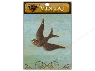 Vintaj Charm Fanciful Bird Nat Brass