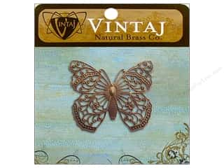 Vintaj Charm Filigree Butterfly Nat Brass