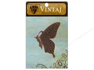Vintaj Charm Butterfly Profile Nat Brass