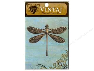 Vintaj Charm Ornate Dragonfly Nat Brass