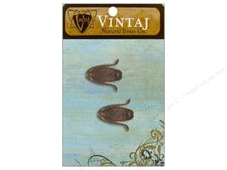 Vintaj Bead Cap Magnolia Leaf 14mm Nat Brass 2pc
