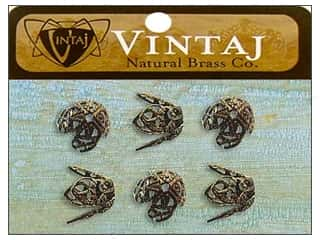 Vintaj Bead Cap Filigree 12mm Nat Brass 6pc