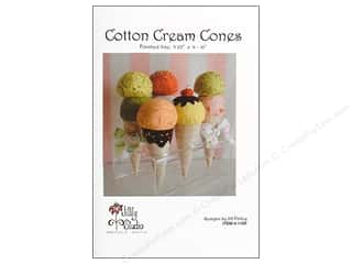 Yesterday's Charm Home Decor Patterns: Jillily Studio Cotton Cream Cones Pattern